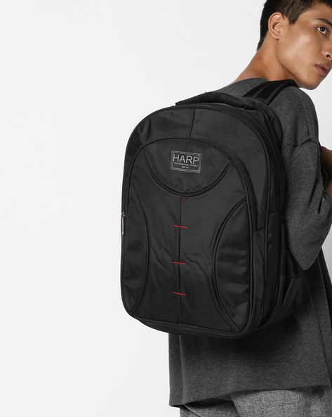 Bristol Backpack With Laptop Sleeve By Harp ( Black )