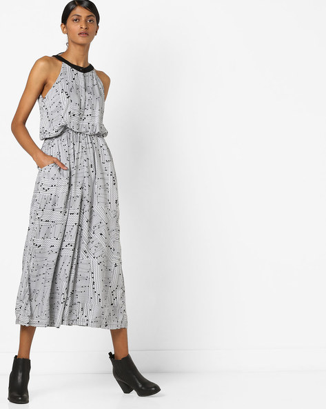 Geometric Print Culotte Jumpsuit By And ( Multi )
