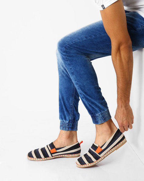 Striped Slip-On Canvas Espadrilles By AJIO ( Assorted )