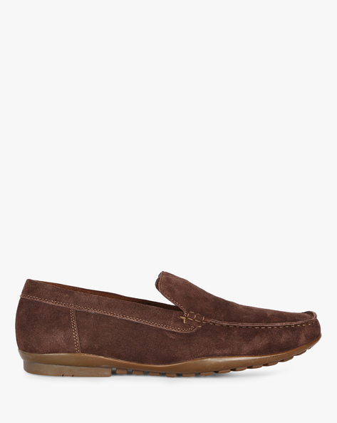 Suede Leather Loafers By ESCARO ( Brown )