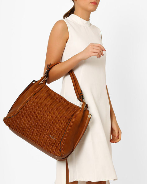 Textured Shoulder Bag By Carlton London ( Taupe )