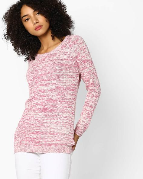 Pullover With Rib-Knit Trims By Fame Forever By Lifestyle ( Pink )