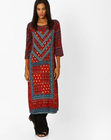 Printed Panelled Kurta By Global Desi ( Multi )