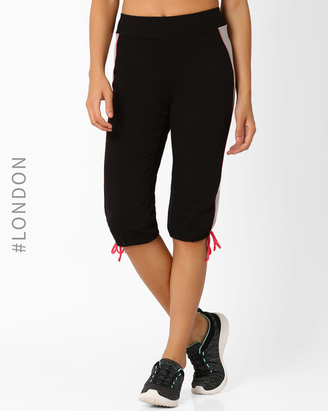 Quick Dry Capris With Elasticated Waist By Marks & Spencer ( Pink )