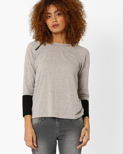 T-shirt With Raglan Sleeves By WRANGLER ( Grey )