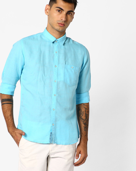 Slim Fit Shirt With Patch Pocket By Killer ( Green )