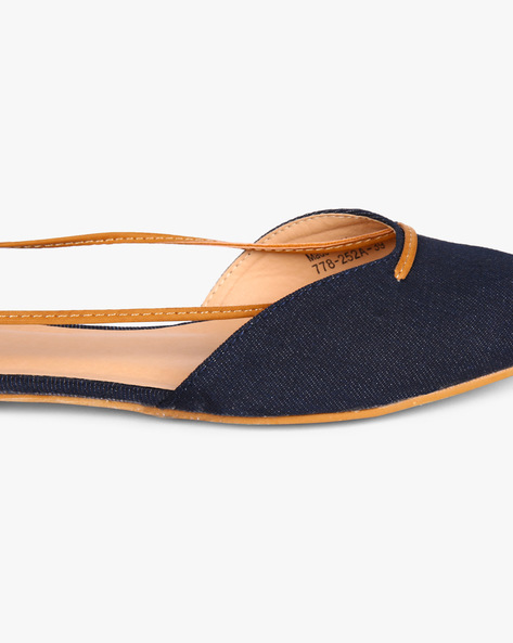 Ballerinas With Tie-Up By AJIO ( Blue )
