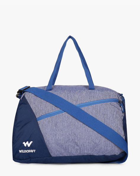 Tinker Water-Resistant Panelled Duffel Bag By Wildcraft ( Lightblue )