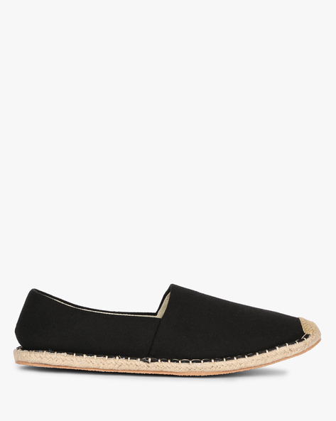 Textured Canvas Espadrilles By AJIO ( Black )