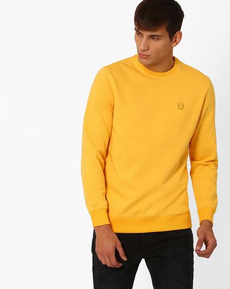 Regular Fit Fleece Sweatshirt By MONTE CARLO ( Yellow )