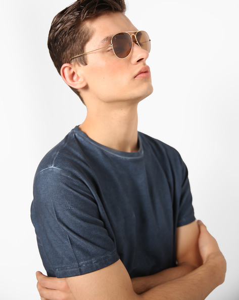 UV-Protected Aviator Sunglasses By MTV ( Brown )