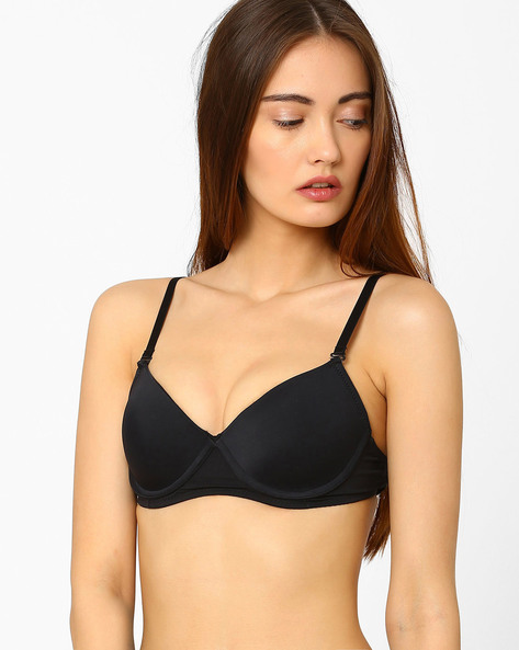 Underwired Push-Up Bra By Lovable ( Black )