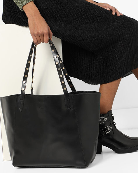 Tote Bag With Metal Studs By 20Dresses ( Black )