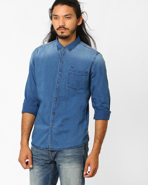 Slim Fit Cotton Shirt By FLYING MACHINE ( Assorted )