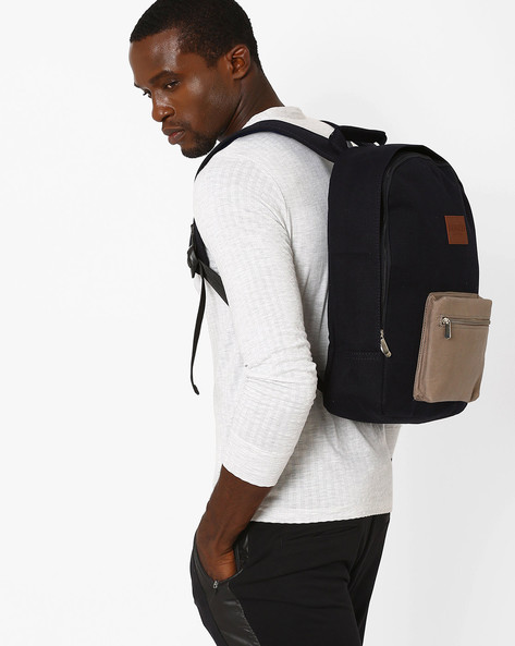 Backpack With Laptop Compartment By FAMOZI ( Navyblue )