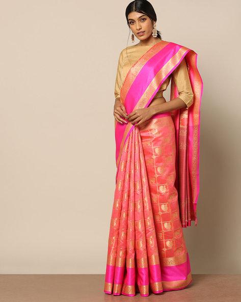 South Silk Kanakavali Design Saree By Pretty Woman ( Pink )