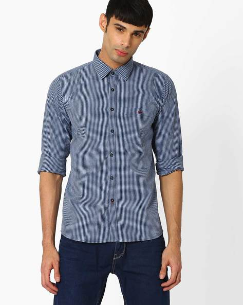 Checked Slim Fit Shirt By CRIMSOUNE CLUB ( Assorted )