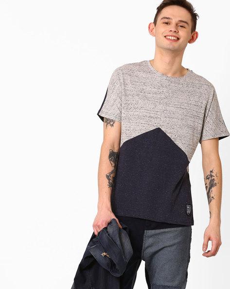 Slim Cut & Sew T-shirt By Atorse ( Grey )