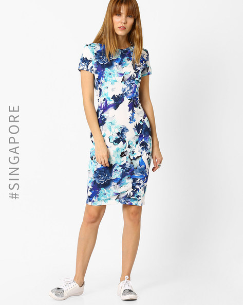 Floral Print Sheath Dress By MDS ( Multi )