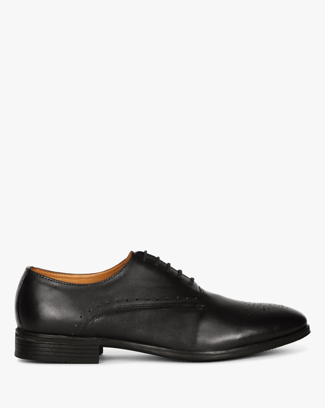 Oxford Shoes With Perforations By Piaffe ( Black )