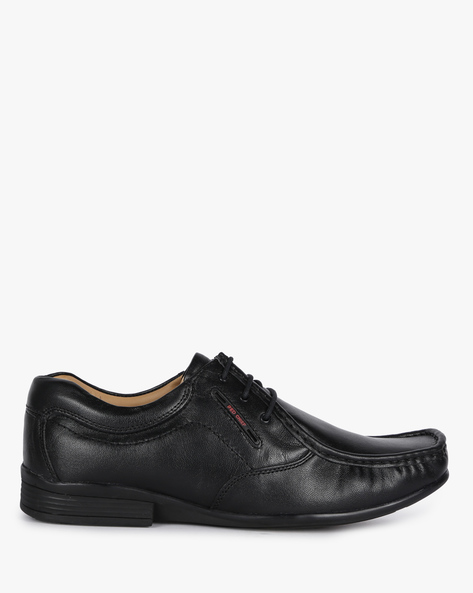 Genuine Leather Textured Lace-Up Shoes By RED CHIEF ( Black )
