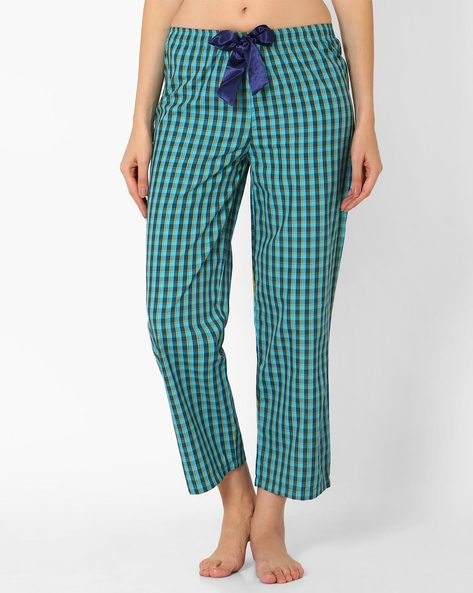 Checked Cotton Pyjamas By PrettySecrets ( Turquoise )