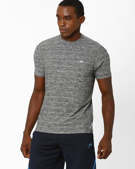 Crew-Neck T-shirt With HypaCool Technology By Wildcraft ( Grey )