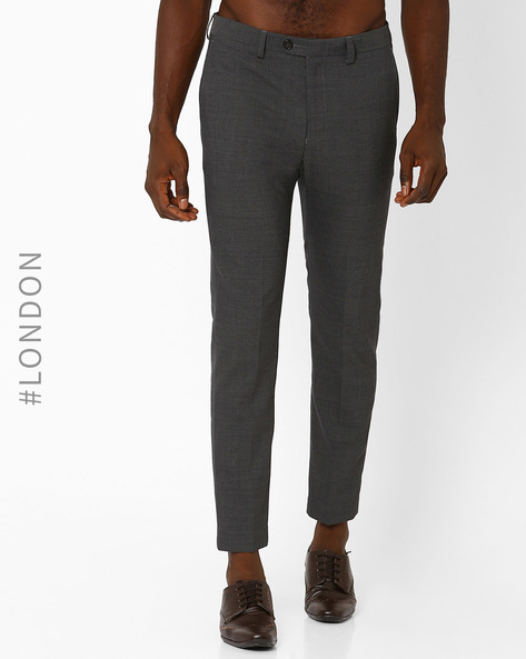 Slim Fit Stretchable Commuter Trousers By Marks & Spencer ( Grey )
