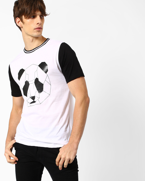 Panda Print Crew-Neck T-shirt By ADAMO LONDON ( Multi )