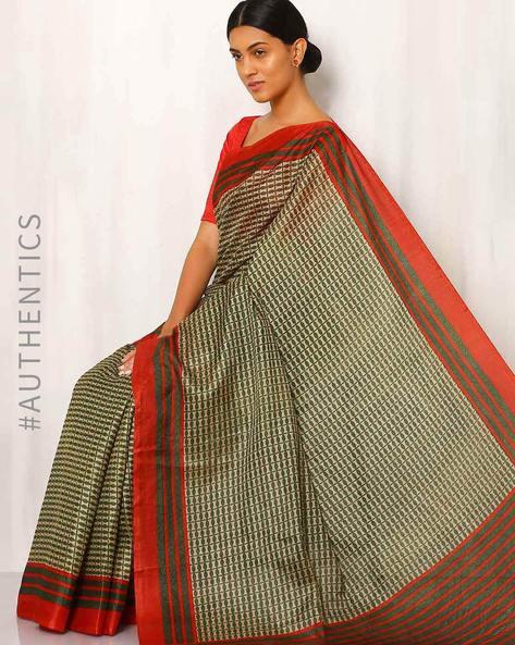 Art Silk Printed Saree By Rudrakaashe-MSU ( Multi )