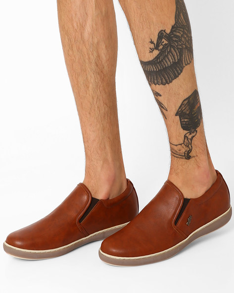 Slip-Ons With Elasticated Gussets By BUCKAROO ( Tan )