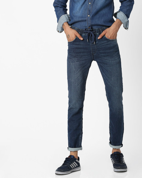 Light-Wash Skinny Fit Jeans By Celio ( Blue )