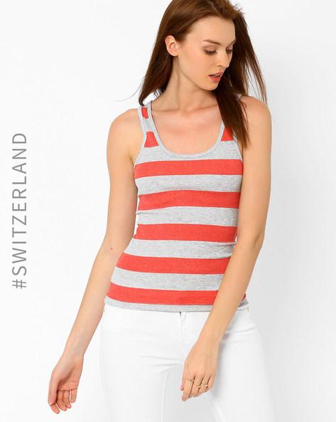 Striped Tank Top By TALLY WEiJL ( Pink )