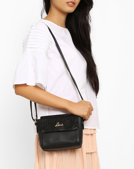 Sling Bag With Chantilly Lace By Lavie ( Black )