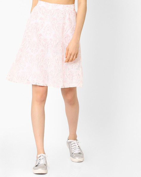 Mesh A-line Skirt By Vero Moda ( White )