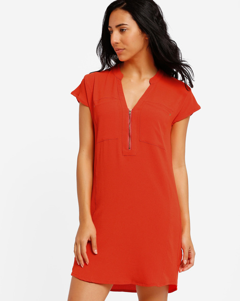 Tunic With Zipper Detail By Oxolloxo ( Orange )