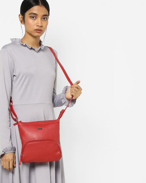 Luba Panelled Sling Bag By Lavie ( Red )