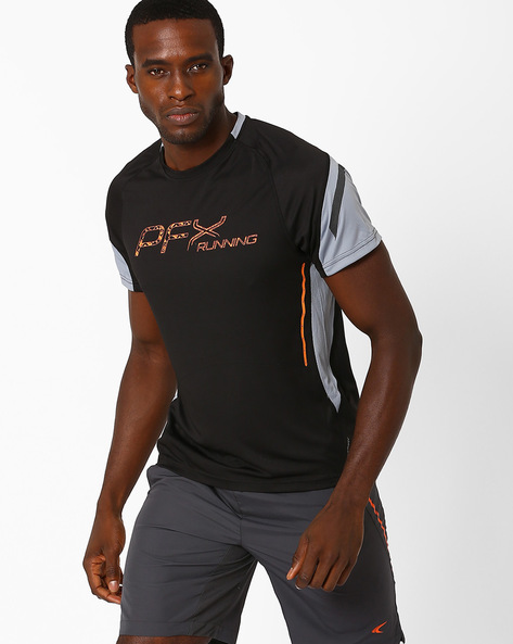 Running T-shirt With Quick Dry By PERFORMAX ( Black )