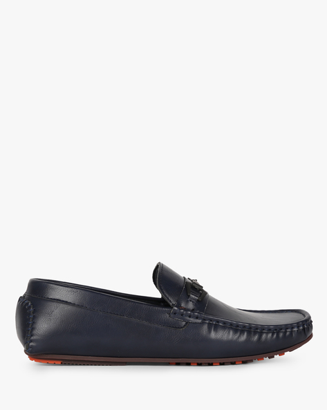 Low-Top Slip-On Loafers By AJIO ( Navy )