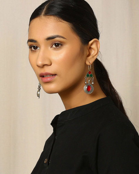 Afghan Drop-Earrings By Indie Picks ( Metallic ) - 460020056001