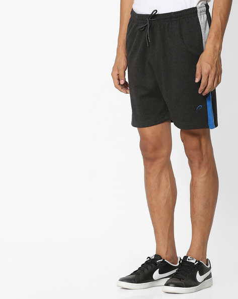 Mid-Rise Shorts With Drawstring Waist By PROLINE ( Charcoal )