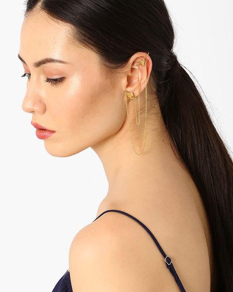 Brass Ear Cuffs By AJIO ( Gold )