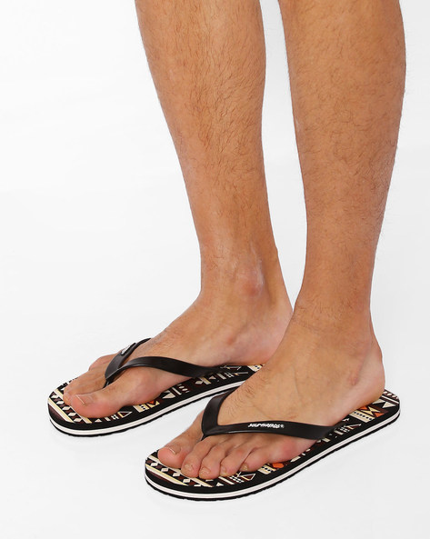 Thong-Style Native Flip-Flops By Sole Threads ( Black )