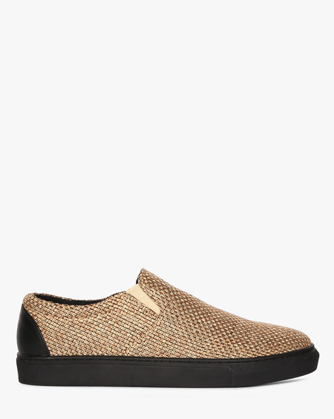 Slip-On Sneakers With Woven Upper By Funk ( Beige )