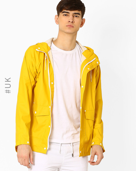Regular Fit Hooded Rain Mac Jacket By Another Influence ( Yellow )