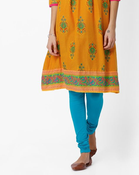 Churidar Leggings With Elasticated Waistband By AVAASA MIX N' MATCH ( Turquoise )