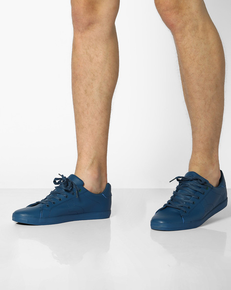 Low-Top Lace-Up Sneakers By UNITED COLORS OF BENETTON ( Blue )