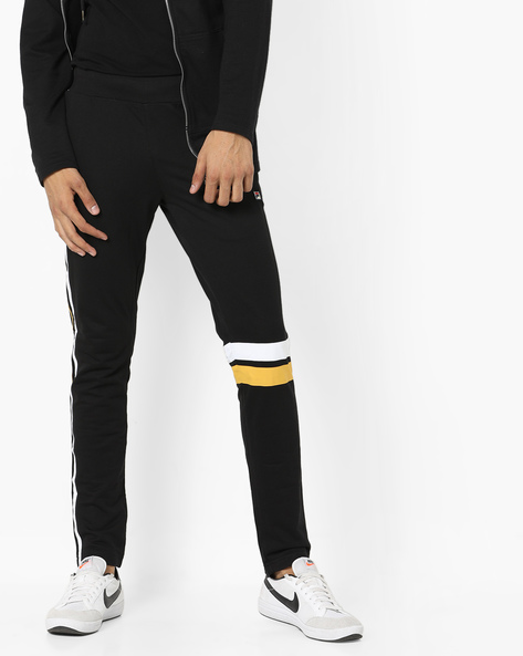 Domain Track Pants With Contrast Stripes By FILA ( Black )