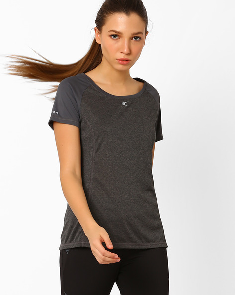 QuickDry T-shirt With Short Sleeves By PERFORMAX ( Charcoal )