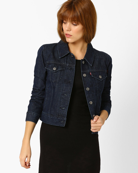 Denim Jacket With Pockets By LEVIS ( Blue )